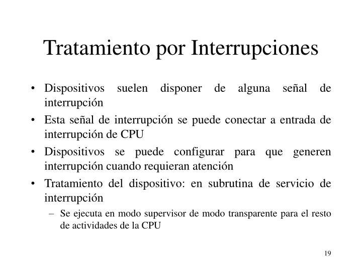 Tratamiento por Interrupciones