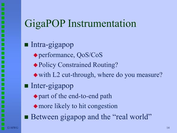GigaPOP Instrumentation