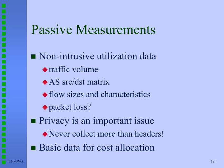 Passive Measurements