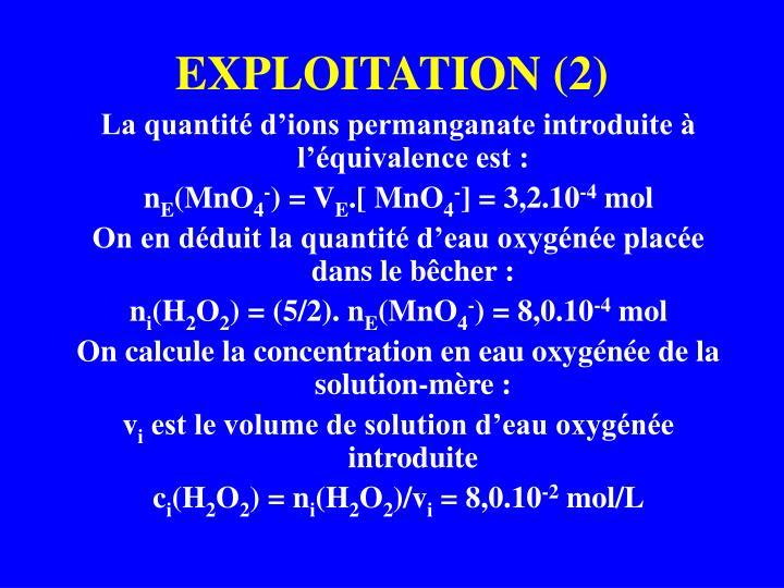 EXPLOITATION (2)