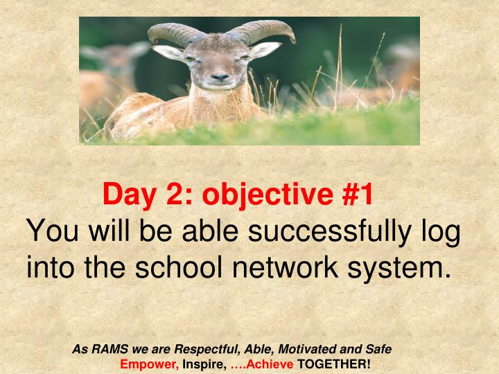 Day 2: objective #1
