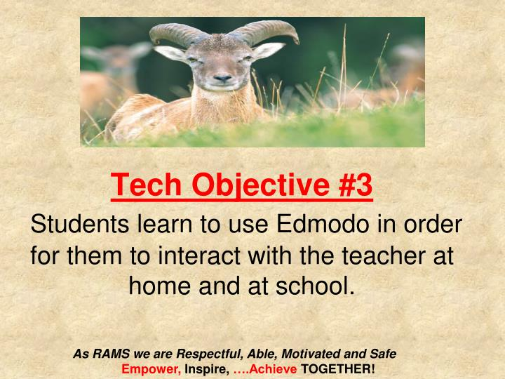 Tech Objective #3