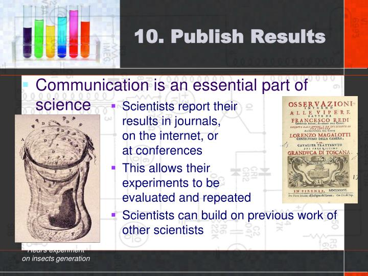 10. Publish Results