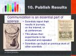 10 publish results