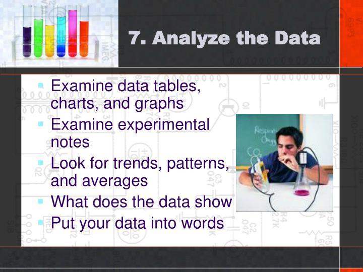7. Analyze the Data