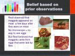 belief based on prior observations1