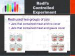 redi s controlled experiment