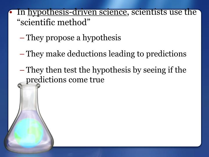 They propose a hypothesis