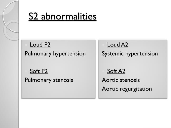 S2 abnormalities