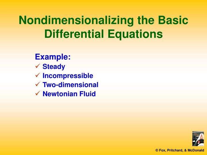 Nondimensionalizing the basic differential equations