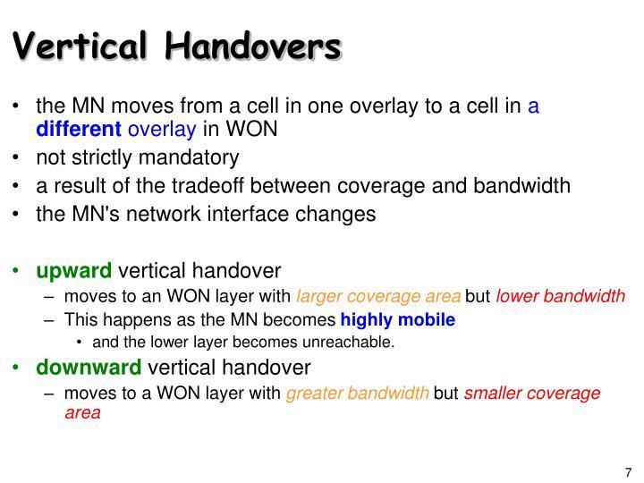 Vertical Handovers