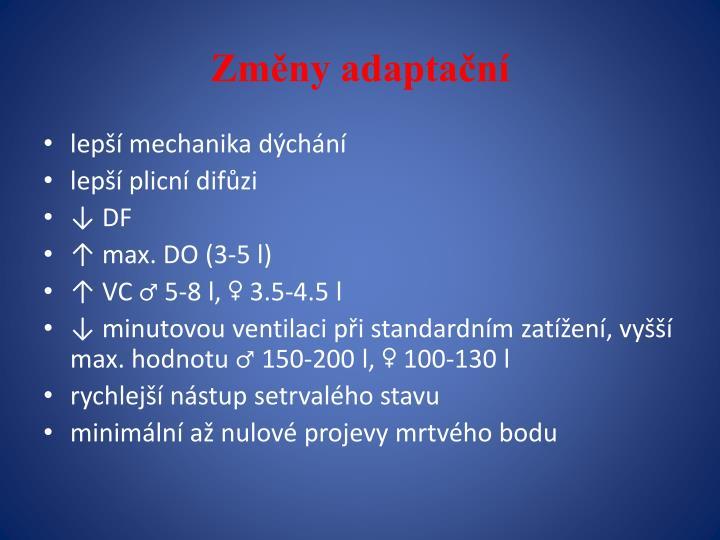Změny adaptační
