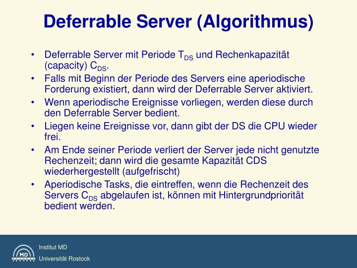 Deferrable Server (Algorithmus)