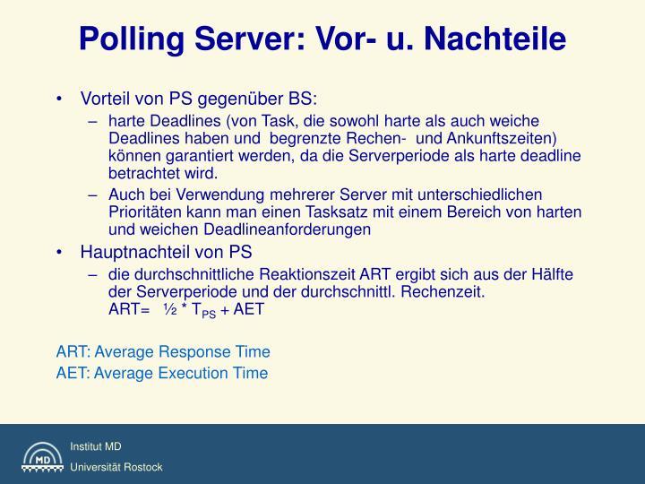 Polling Server: Vor- u. Nachteile