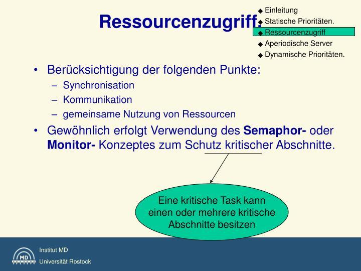 Ressourcenzugriff.