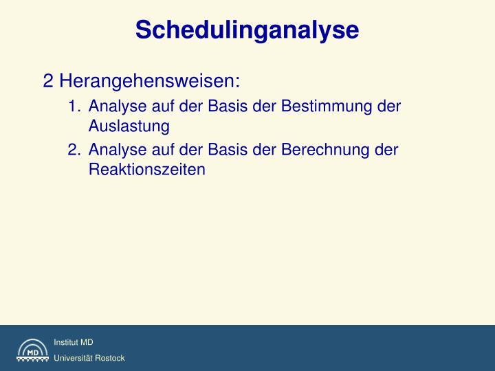 Schedulinganalyse