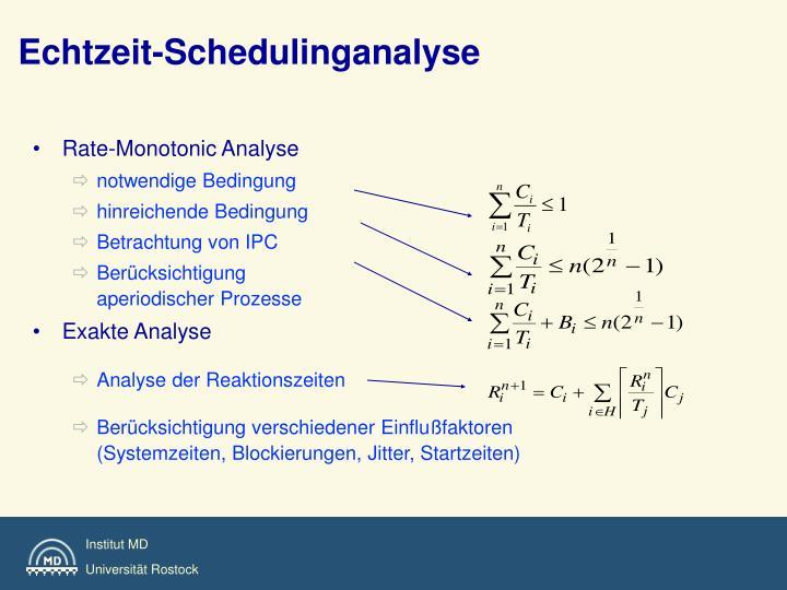 Echtzeit-Schedulinganalyse