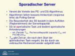 sporadischer server