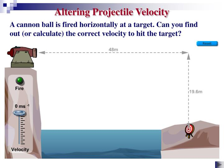 Altering Projectile Velocity