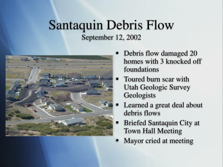 Santaquin Debris Flow
