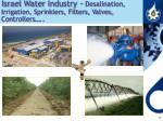 israel water industry desalination irrigation sprinklers filters valves controllers