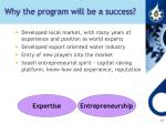 why the program will be a success