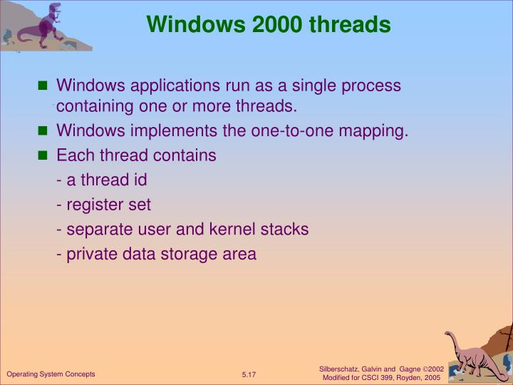 Windows 2000 threads