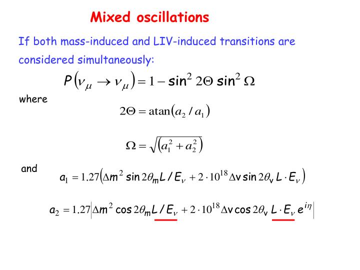 Mixed oscillations