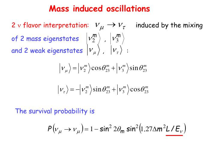 Mass induced oscillations