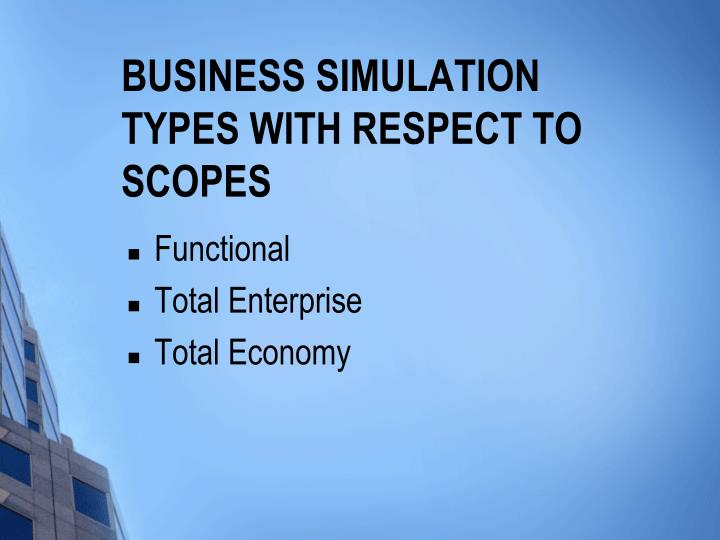 Business Simulation Types with Respect to Scopes