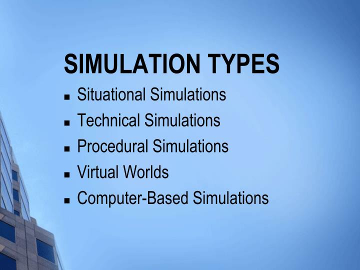 Simulation types