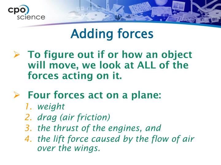 Adding forces