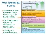 four elemental forces