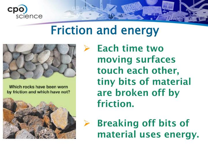 Friction and energy