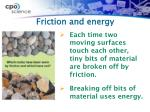 friction and energy2