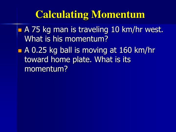 Calculating Momentum