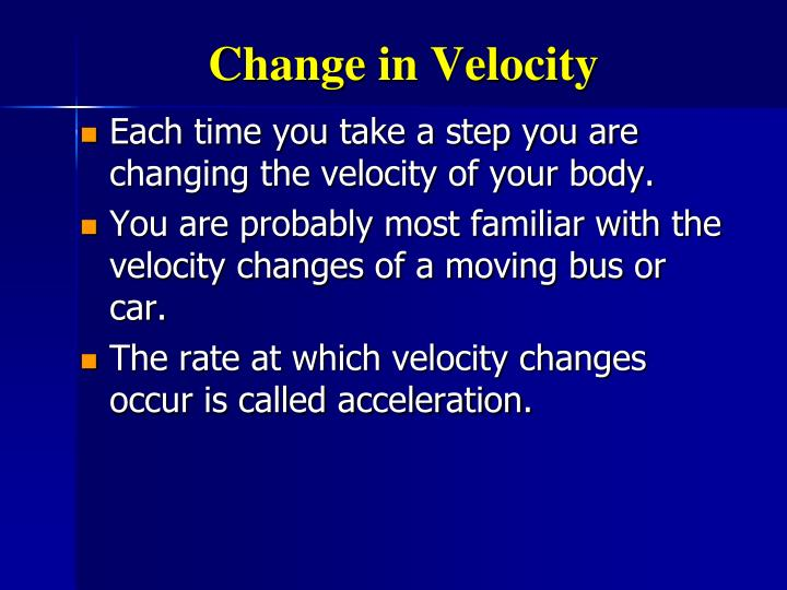Change in Velocity