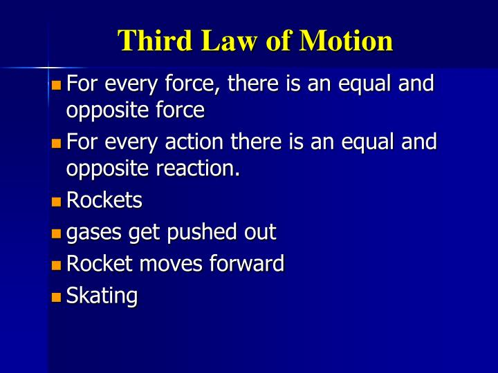 Third Law of Motion