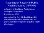 australasian faculty of public health medicine afphm