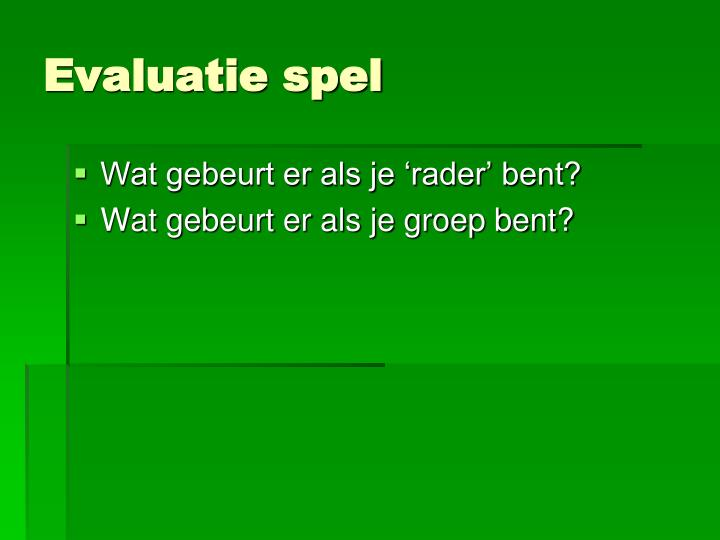 Evaluatie spel