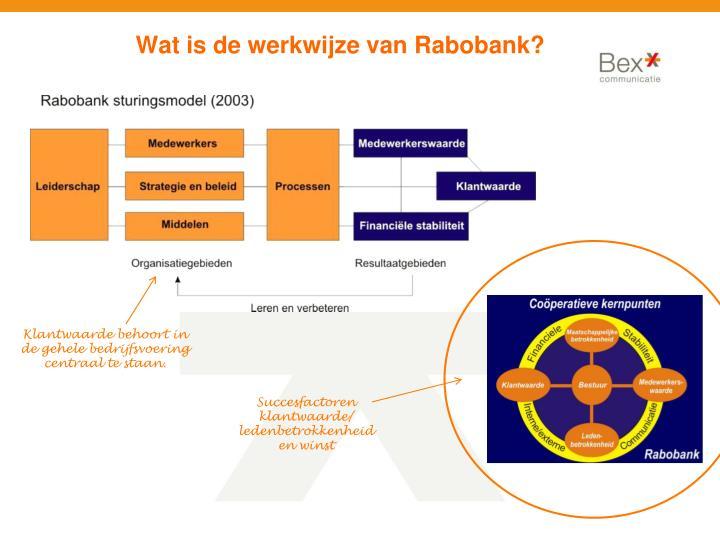 Wat is de werkwijze van Rabobank?