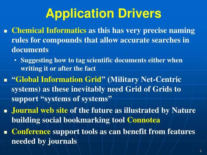 Application Drivers