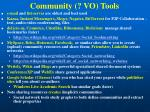 community vo tools