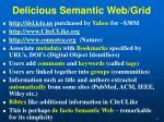 delicious semantic web grid