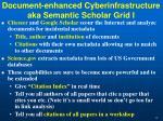 document enhanced cyberinfrastructure aka semantic scholar grid i