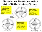 mediation and transformation in a grid of grids and simple services