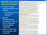 oscar2 chemistry document analysis