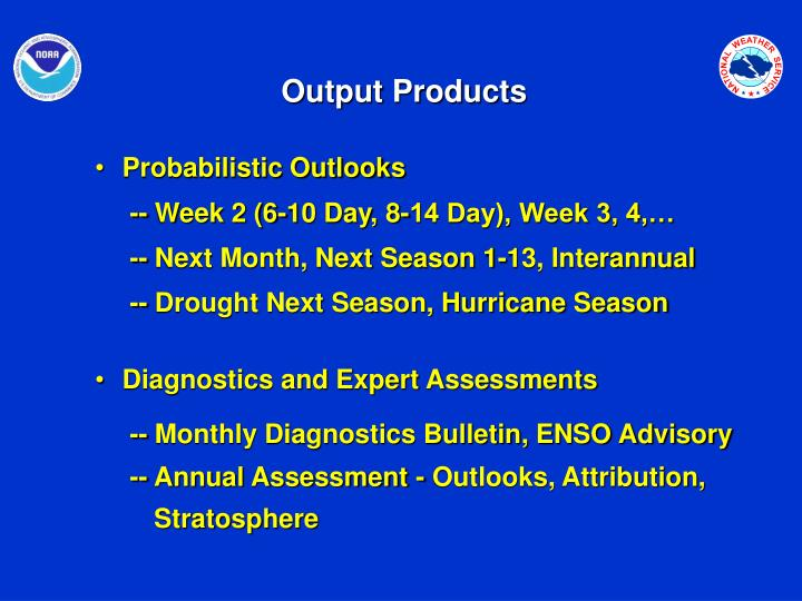 Output Products