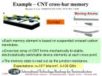 example cnt cross bar memory