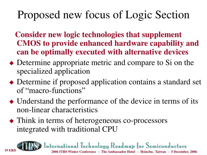Consider new logic technologies that supplement CMOS to provide enhanced hardware capability and can be optimally executed with alternative devices